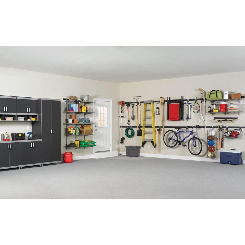 Rubbermaid Fasttrack Garage Wire Shelf 48 In D X 16 In L Fg5e2102snckl The Home Depot
