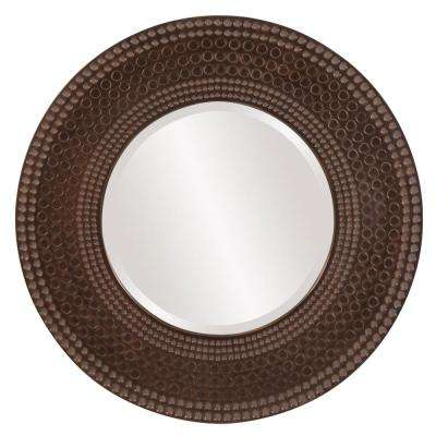 35 in. x 35 in. Mosaic Faux Marble Framed Mirror
