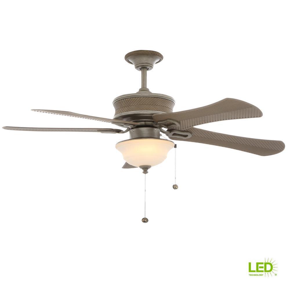 Hampton Bay Light Kit: Hampton Bay Algiers 54 In. LED Indoor/Outdoor Cambridge
