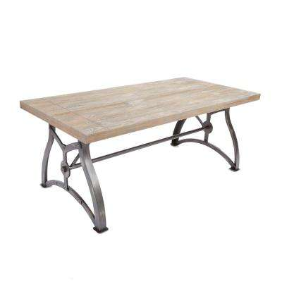 Beckett Industrial Brown Coffee Table