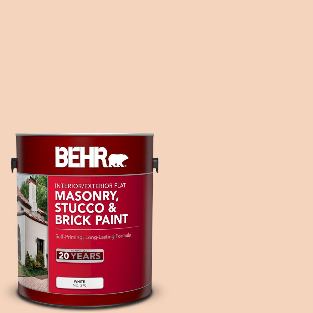 BEHR 1 gal. #BXC-37 Miami Stucco Flat Interior/Exterior Masonry, Stucco and Brick Paint