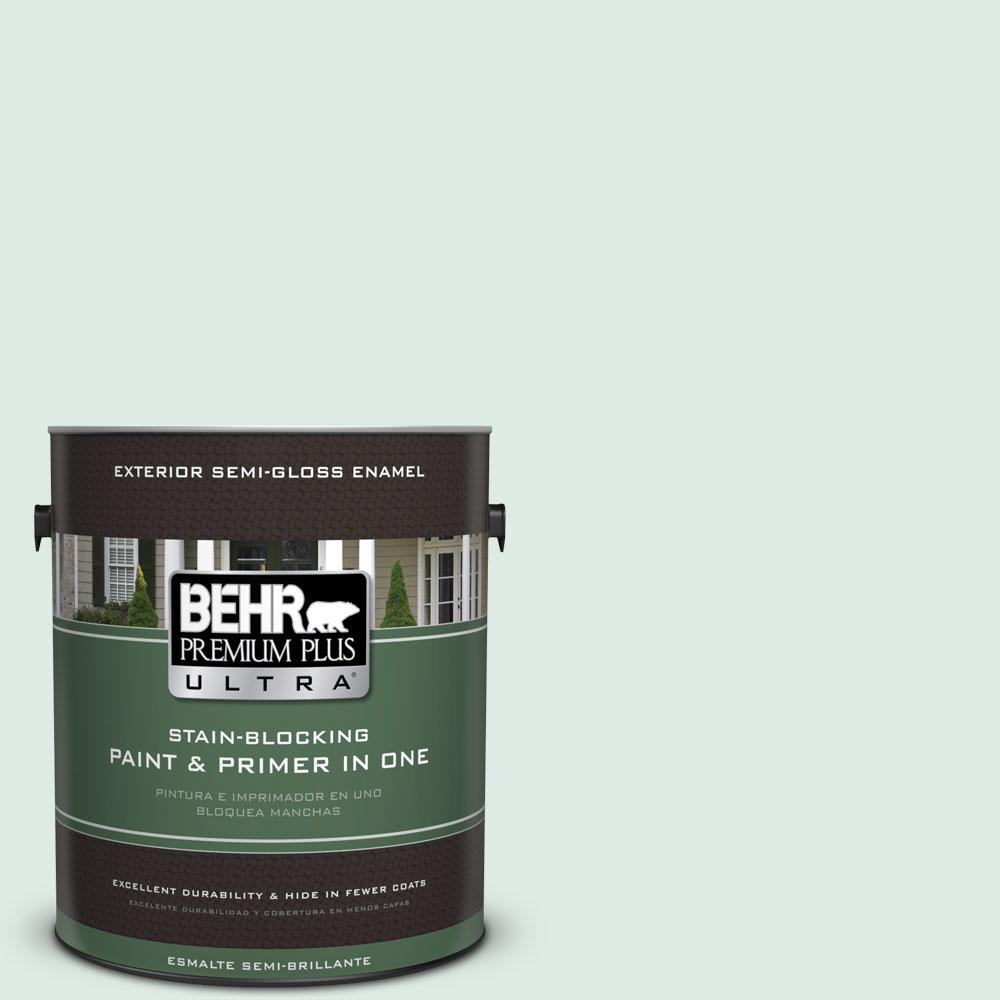 BEHR Premium Plus Ultra 1-gal. #M430-1 Snowbound Semi-Gloss Enamel Exterior Paint