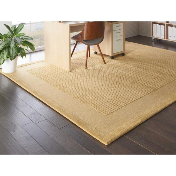 Nourison Simply Elegant Sand 8 Ft X 11 Ft Solid Contemporary Area Rug 723932 The Home Depot