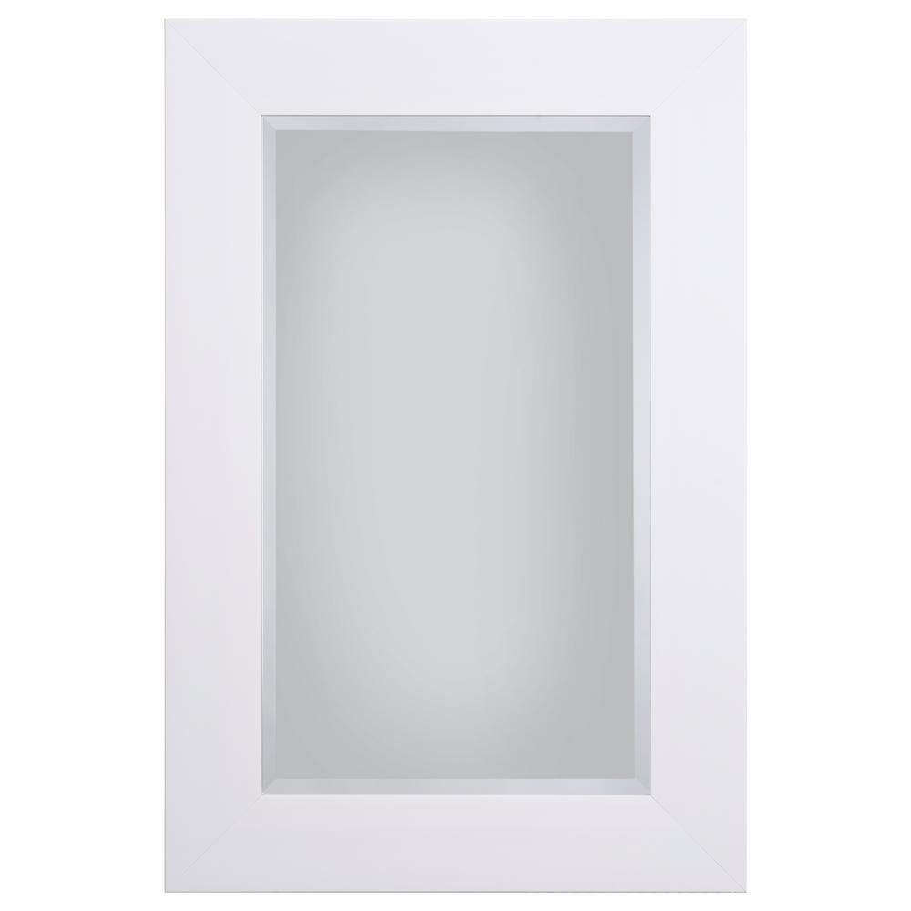 Yosemite Home Decor White Mirror Frame-MINT024 - The Home Depot