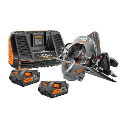 18-Volt Cordless Lithium-Ion Brushless 7-1/4 in. Circular Saw Kit with (2) 4.0Ah Batteries and Charger