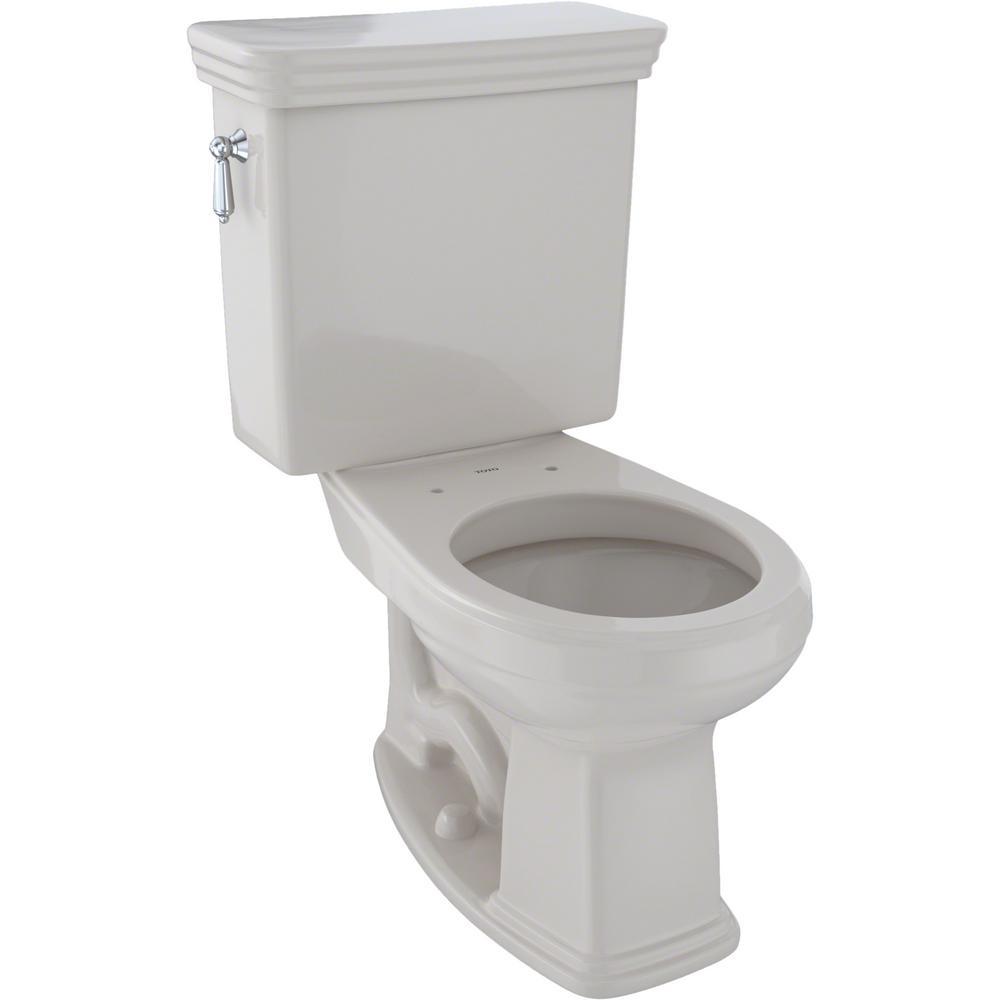 Promenade 2-Piece 1.28 GPF Single Flush Round Toilet in Sedona Beige