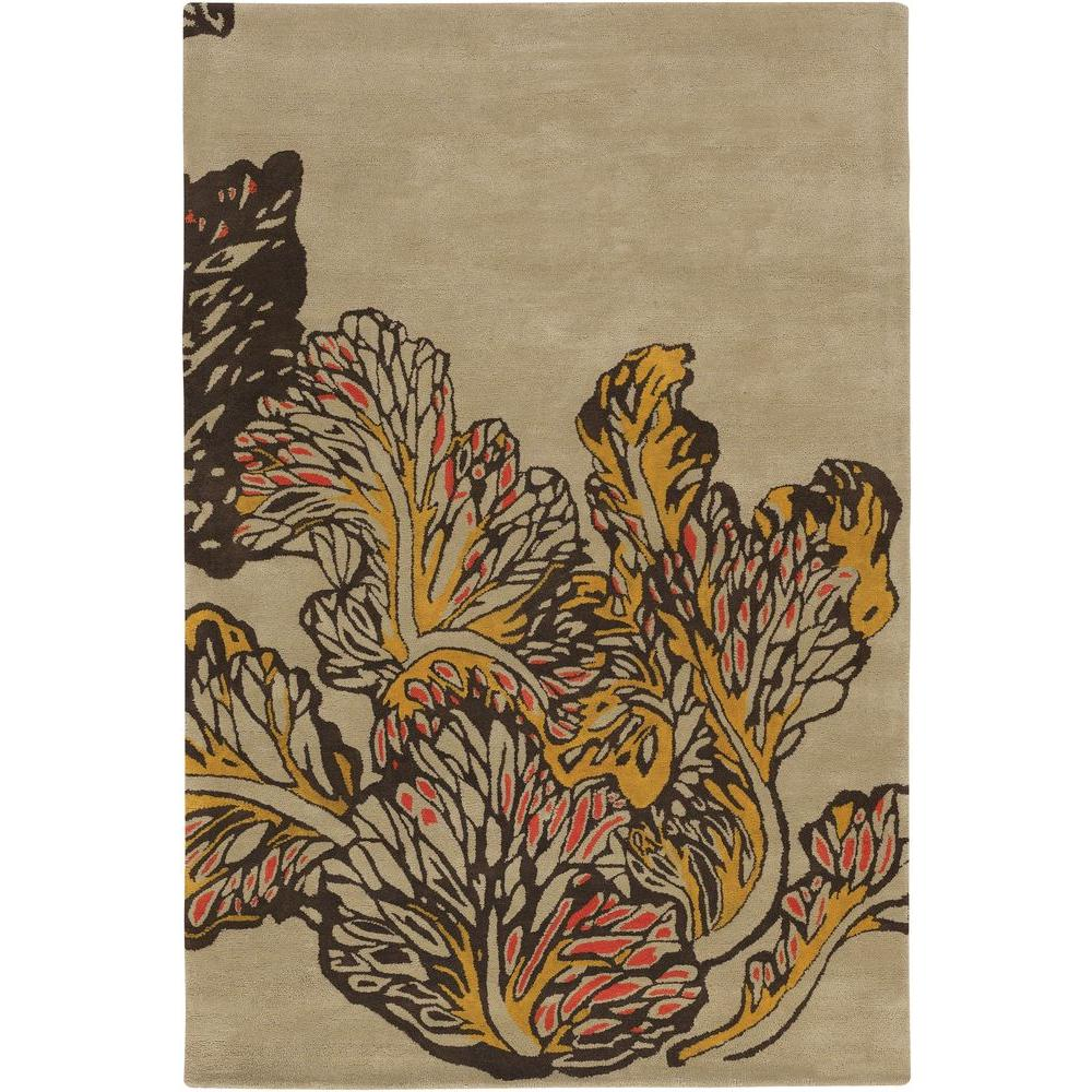 Aschera Taupe/Yellow/Red/Brown 5 ft. x 7 ft. 6 in. Indoor Area