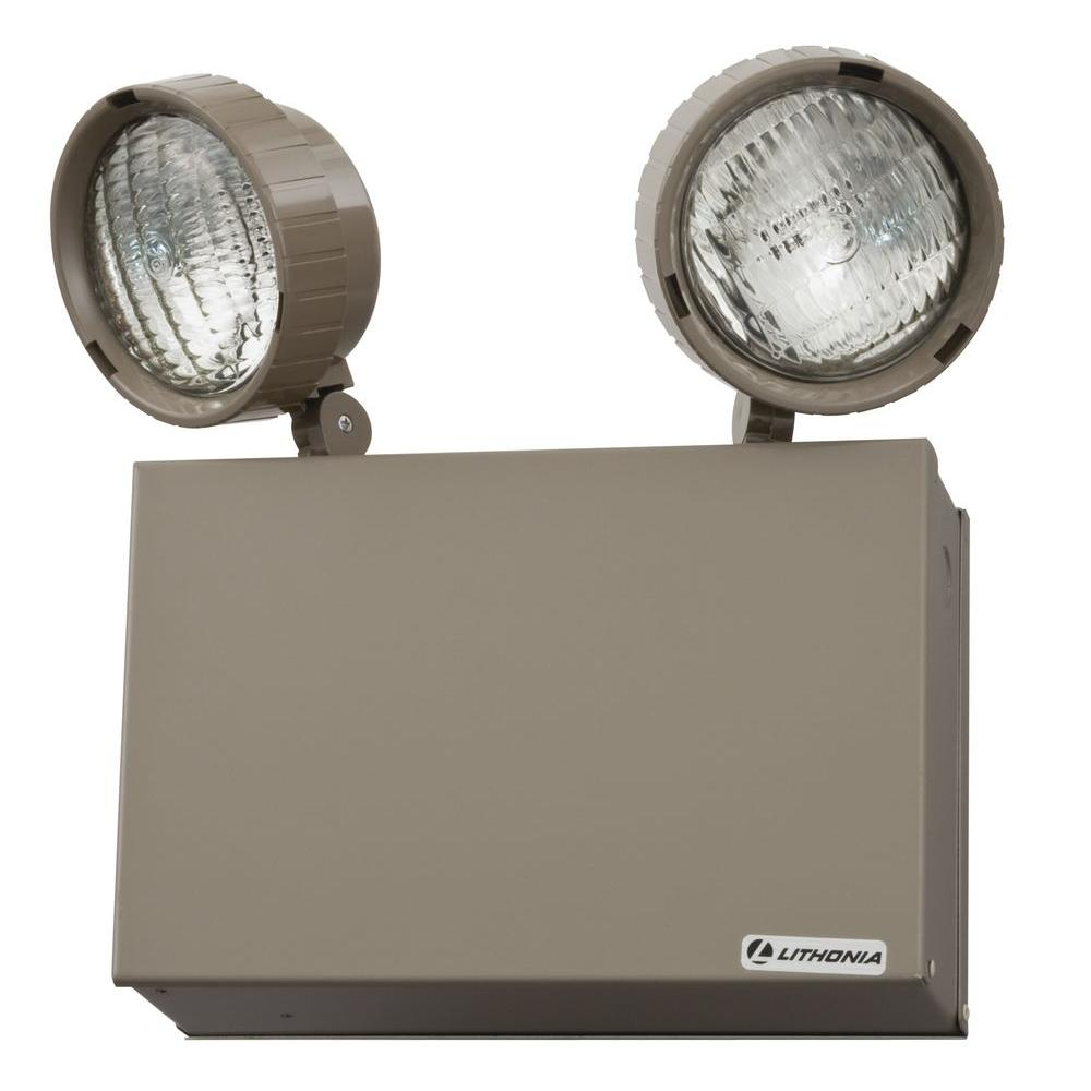 Incandescent lithonia lighting emergency exit lights 16 watt steel incandescent emergency lighting unit mozeypictures Image collections
