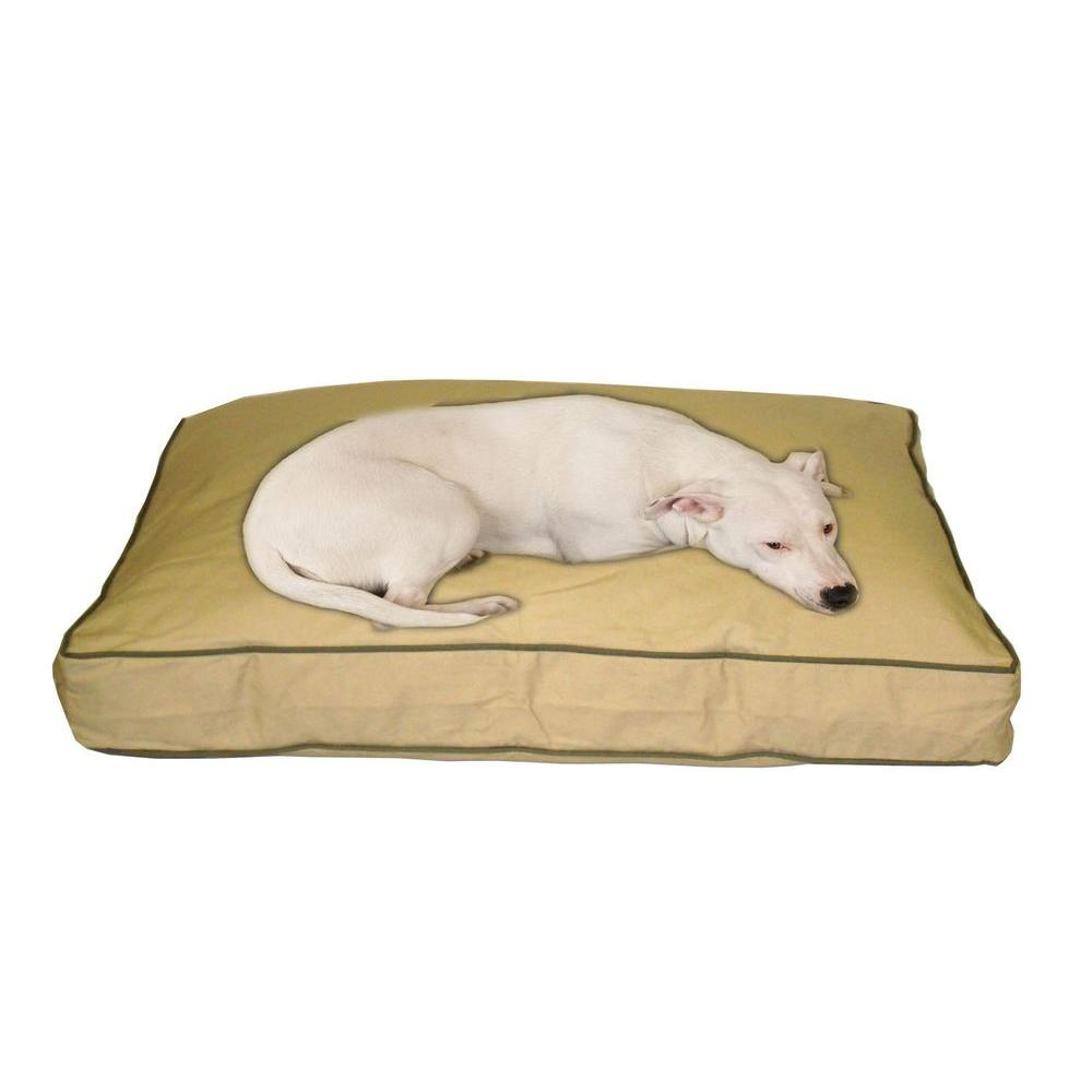 Medium Classic Twill Rectangle Jamison Bed - Khaki