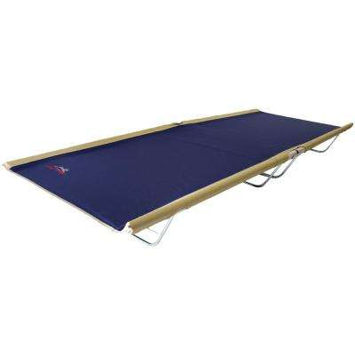 Allagash Cot 76 in. x 30 in. Aluminum Frame Polyester Cover Spring Steel Legs Cot