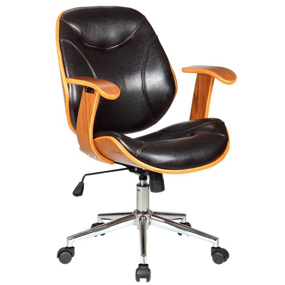 Home Depot Office Chairs: Boraam Rigdom Brown Office Chair-97914