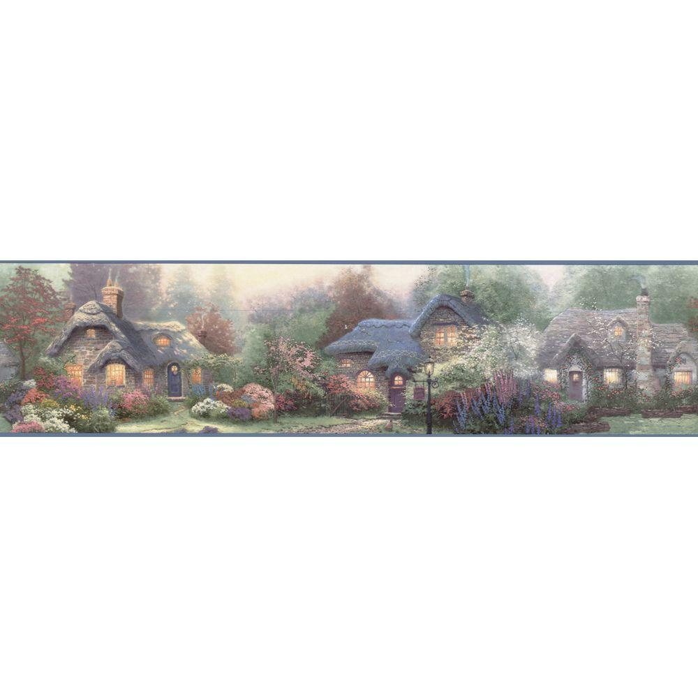 The Wallpaper Company 6.83 in. x 15 ft. Multi Color Cottage Border