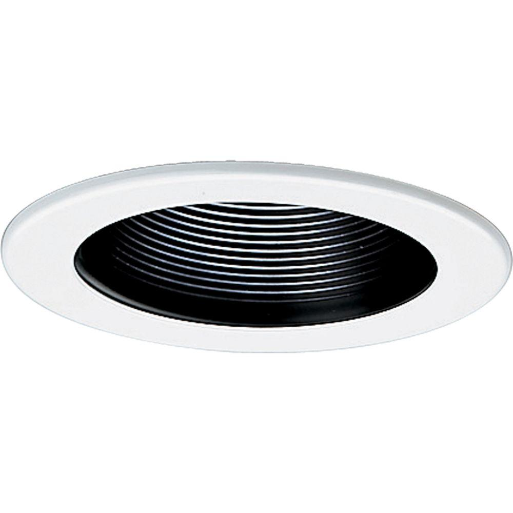 progress lighting 4 in 12 volt black recessed baffle trim p8037 31