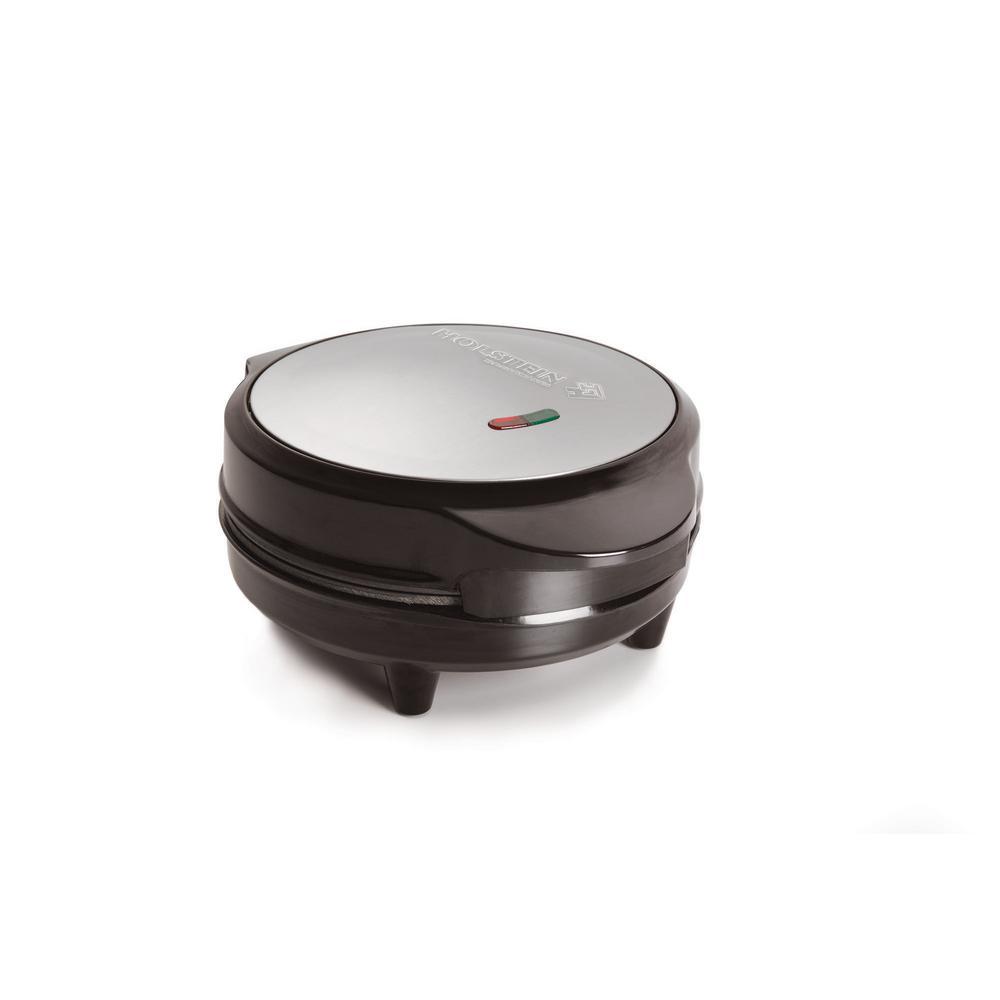 HOLSTEIN HOUSEWARES - Black Stainless Steel Non-Stick Omelette Maker