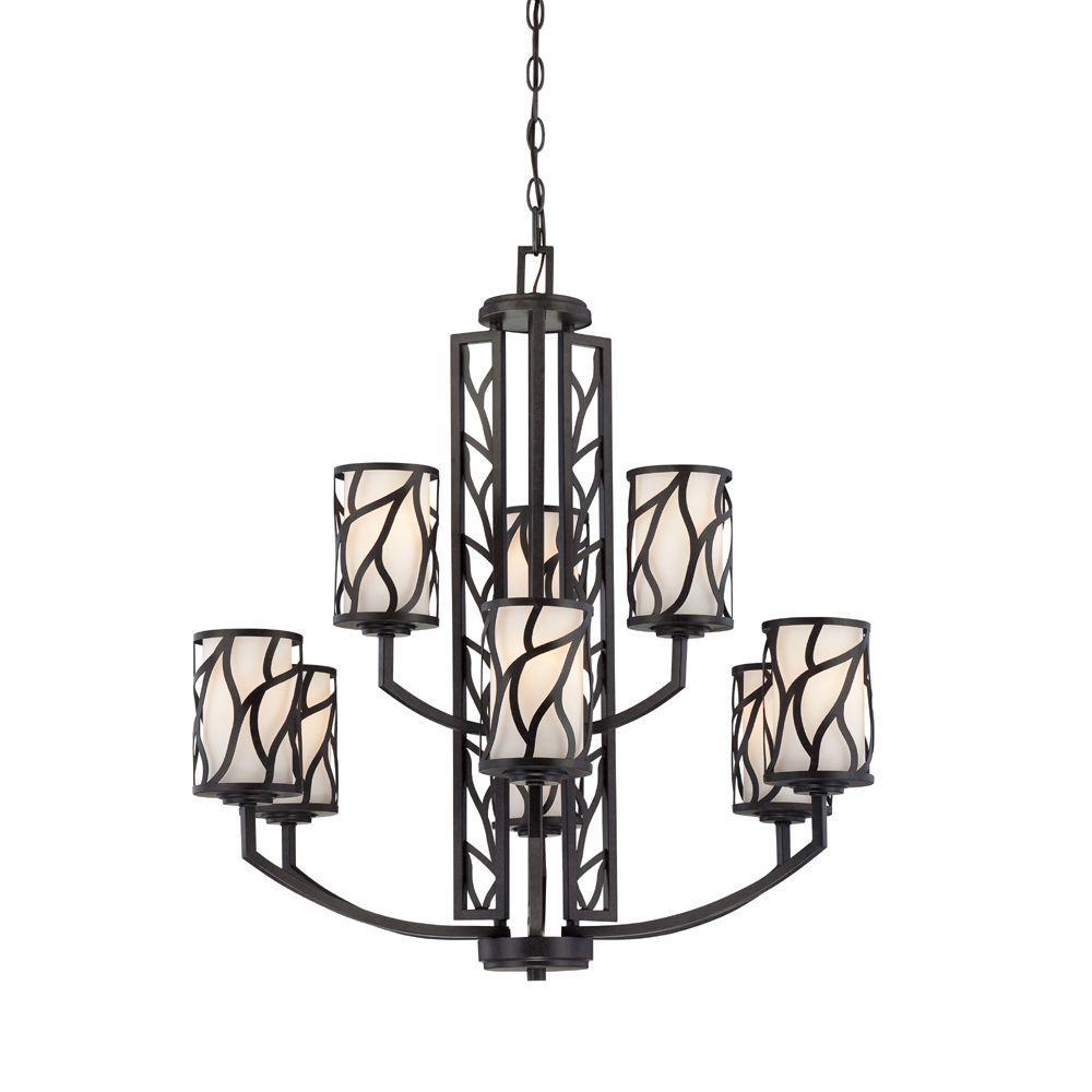 Modesto 9-Light Artisan Interior Incandescent Chandelier
