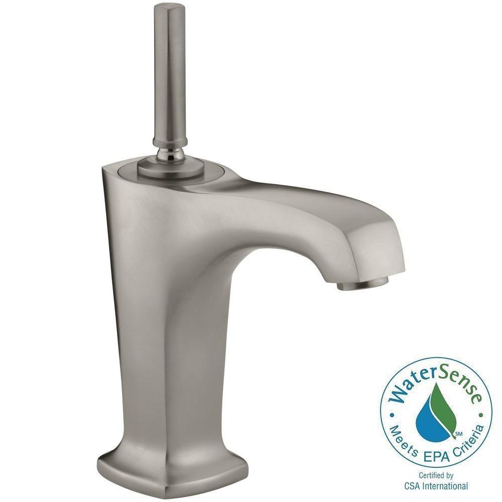 margaux single hole single handle lowarc bathroom vessel sink faucet in
