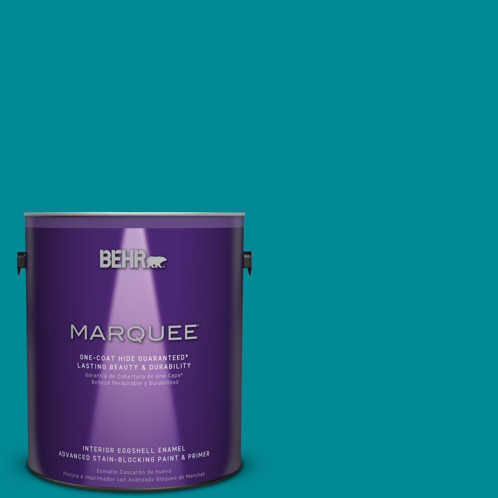 1 gal. #HDC-SM16-06 Blue Slushie Eggshell Enamel Interior Paint