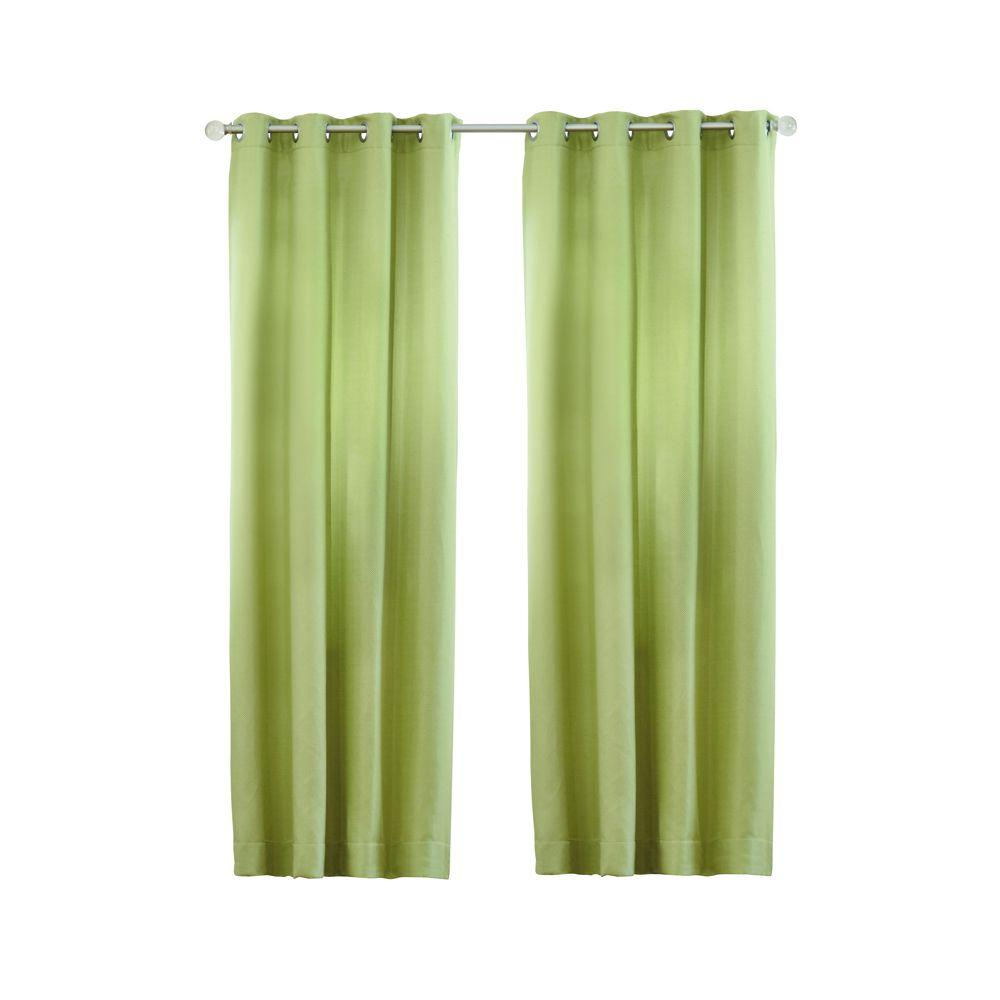 Home decorators collection semi opaque pear basket texture grommet curtain 1623914 the home depot Home decorators collection valance