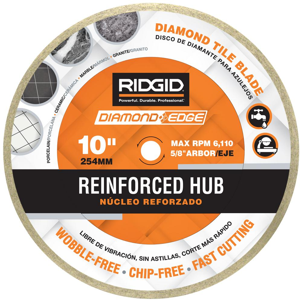 10 in. Reinforced Hub Tile Diamond Blade