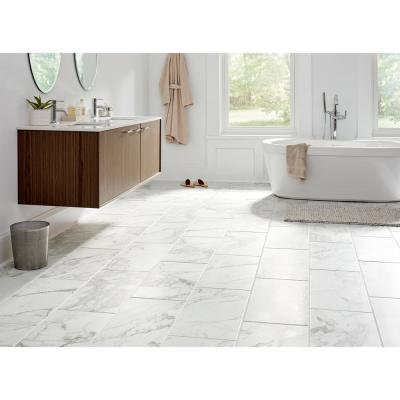 Milton 12 in. x 24 in. Arabescato Marble Porcelain Floor and Wall Tile (15.6 sq. ft./Case)