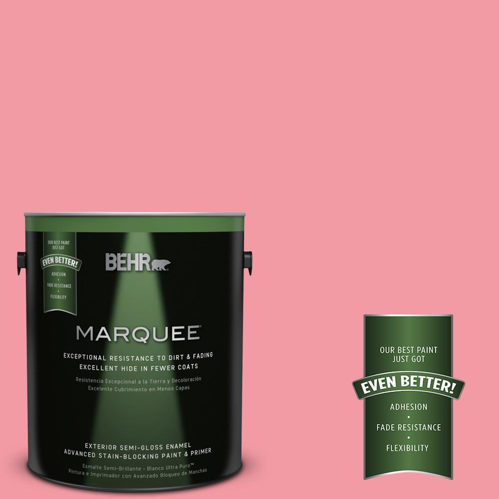 BEHR MARQUEE 1-gal. #130B-4 Primrose Garden Semi-Gloss Enamel Exterior Paint