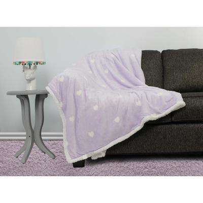 Kelly Purple Sherpa Throw