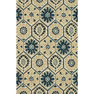 Taylor Lifestyle Collection Navy/Multi 3 ft. 6 in. x 5 ft. 6 in. Area Rug