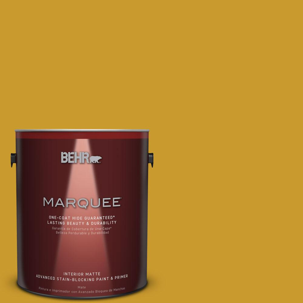 1 gal. #T16-09 Citronne Interior Flat Paint