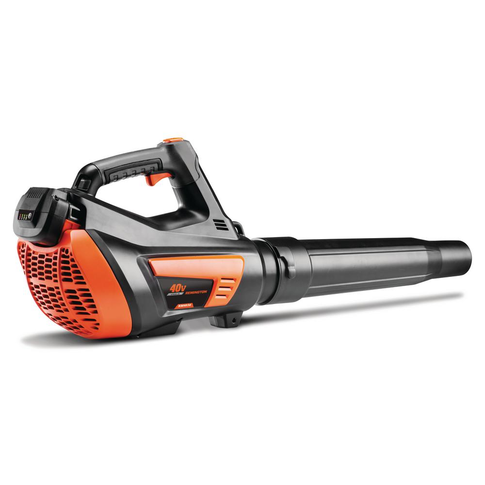 Remington 135 MPH 415 CFM 40-Volt Lithium-Ion Cordless Blower with 2.5 Ah Battery and Charger Included