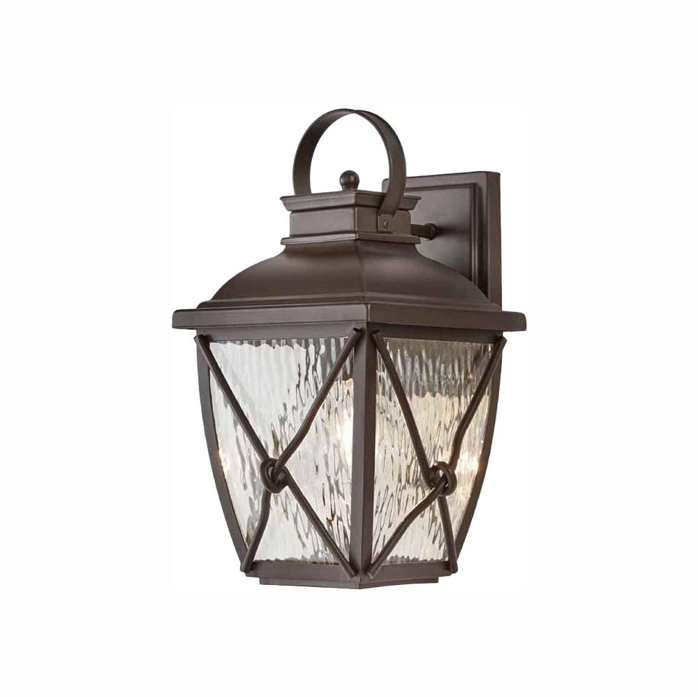 Home Decorators Collection Springbrook 1 Light Rustic Outdoor Wall Lantern Sconce