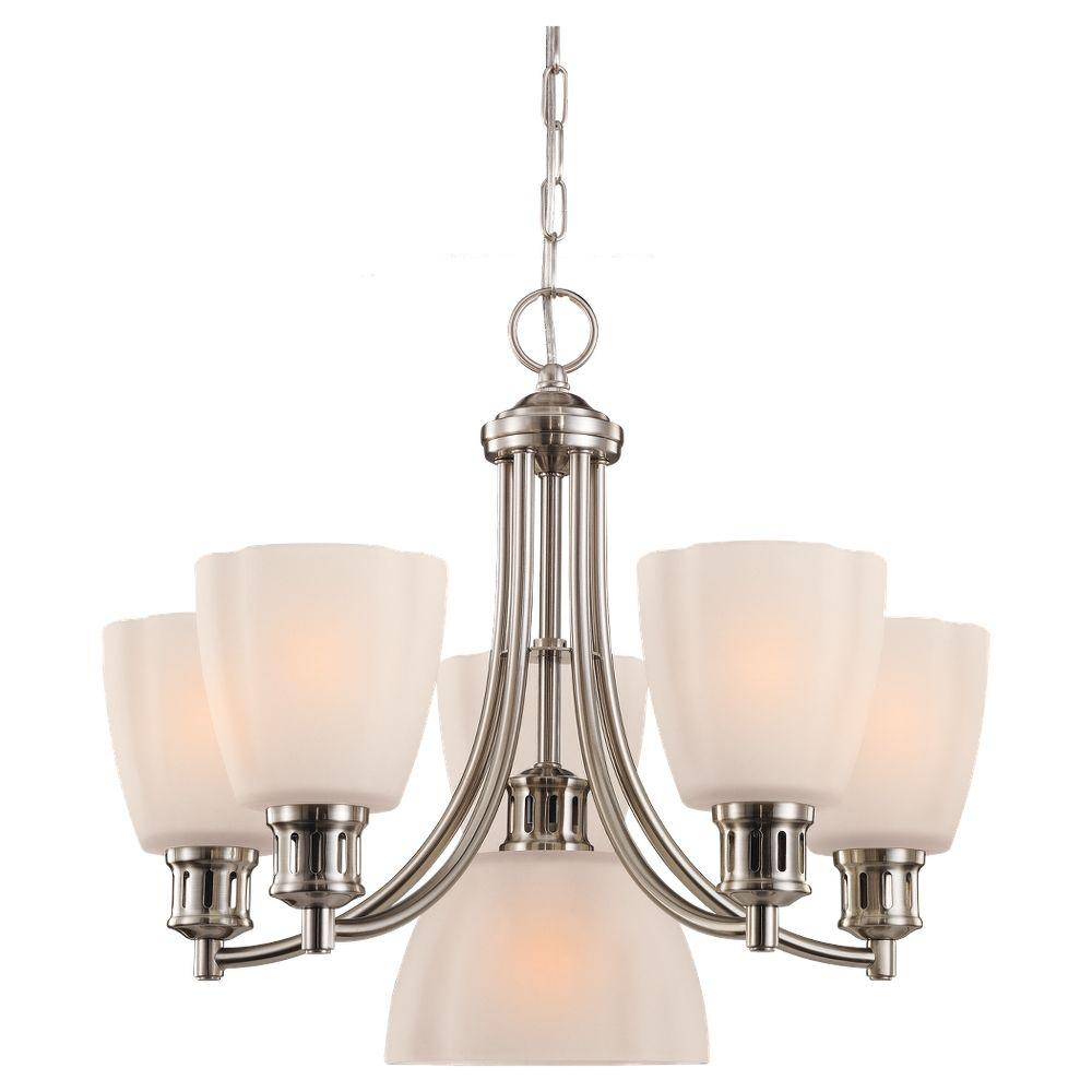Sea Gull Lighting Century 6-Light Brushed Nickel Single Tier Chandelier-DISCONTINUED