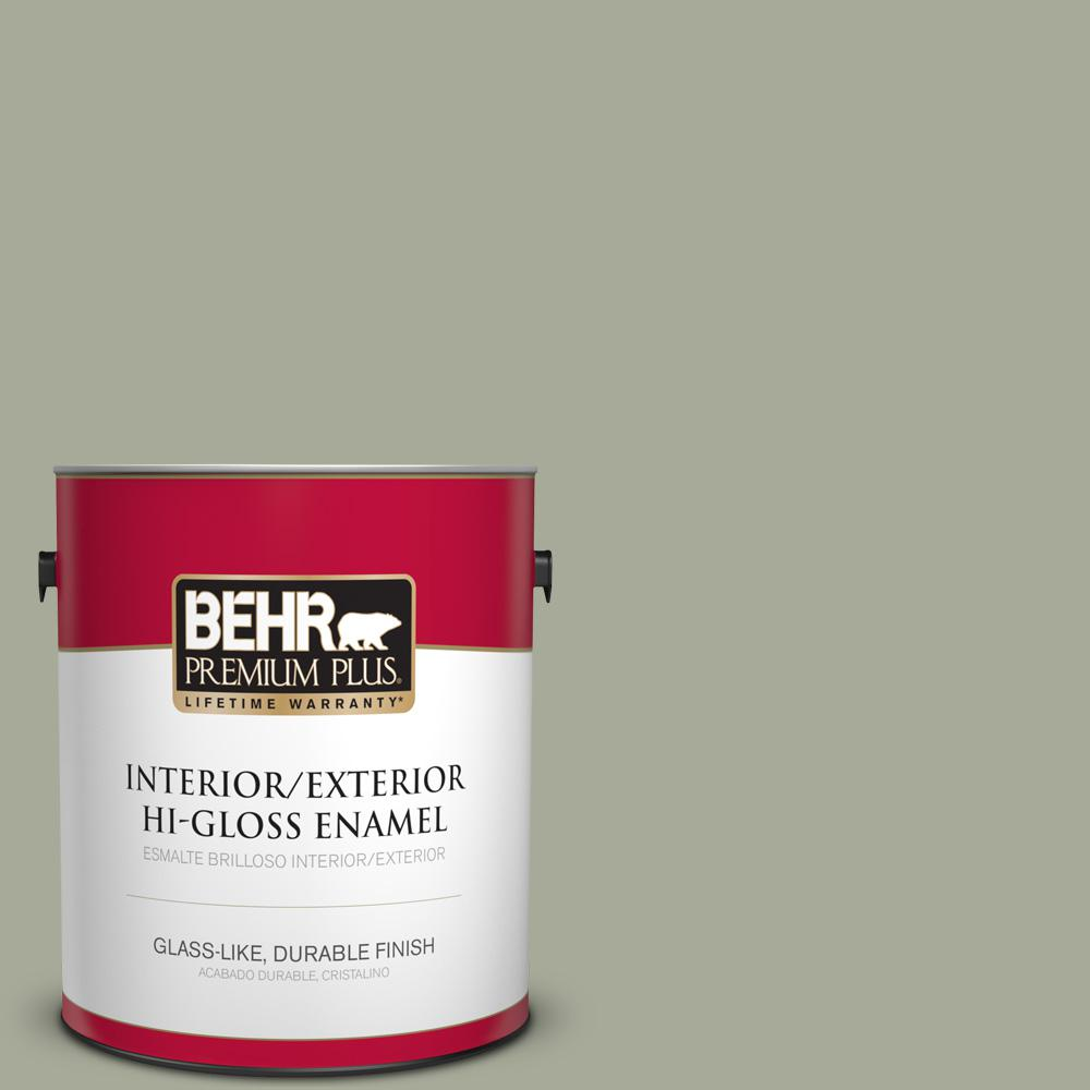 1 gal. #PPU10-16 Simply Sage Hi-Gloss Enamel Interior/Exterior Paint
