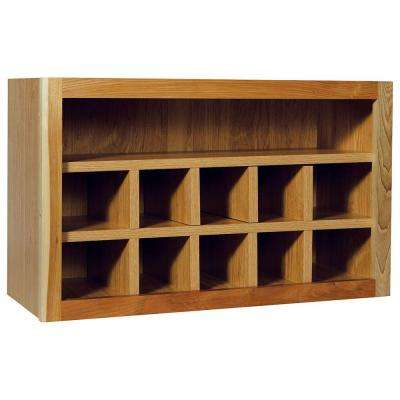 Hampton Assembled 30x18x12 in. Wall Flex Kitchen Cabinet with Shelves and Dividers in Natural Hickory