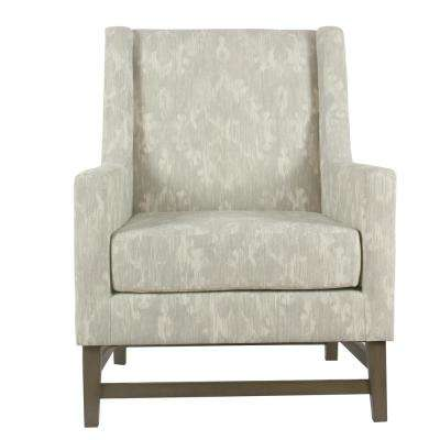Distressed Gray Damask Peyton Accent Chair