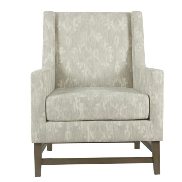 Homepop Distressed Gray Damask Peyton Accent Chair K7524-A834