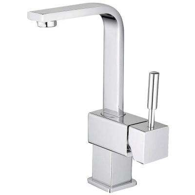 Euro Single Hole 1-Handle Bathroom Faucet in Chrome