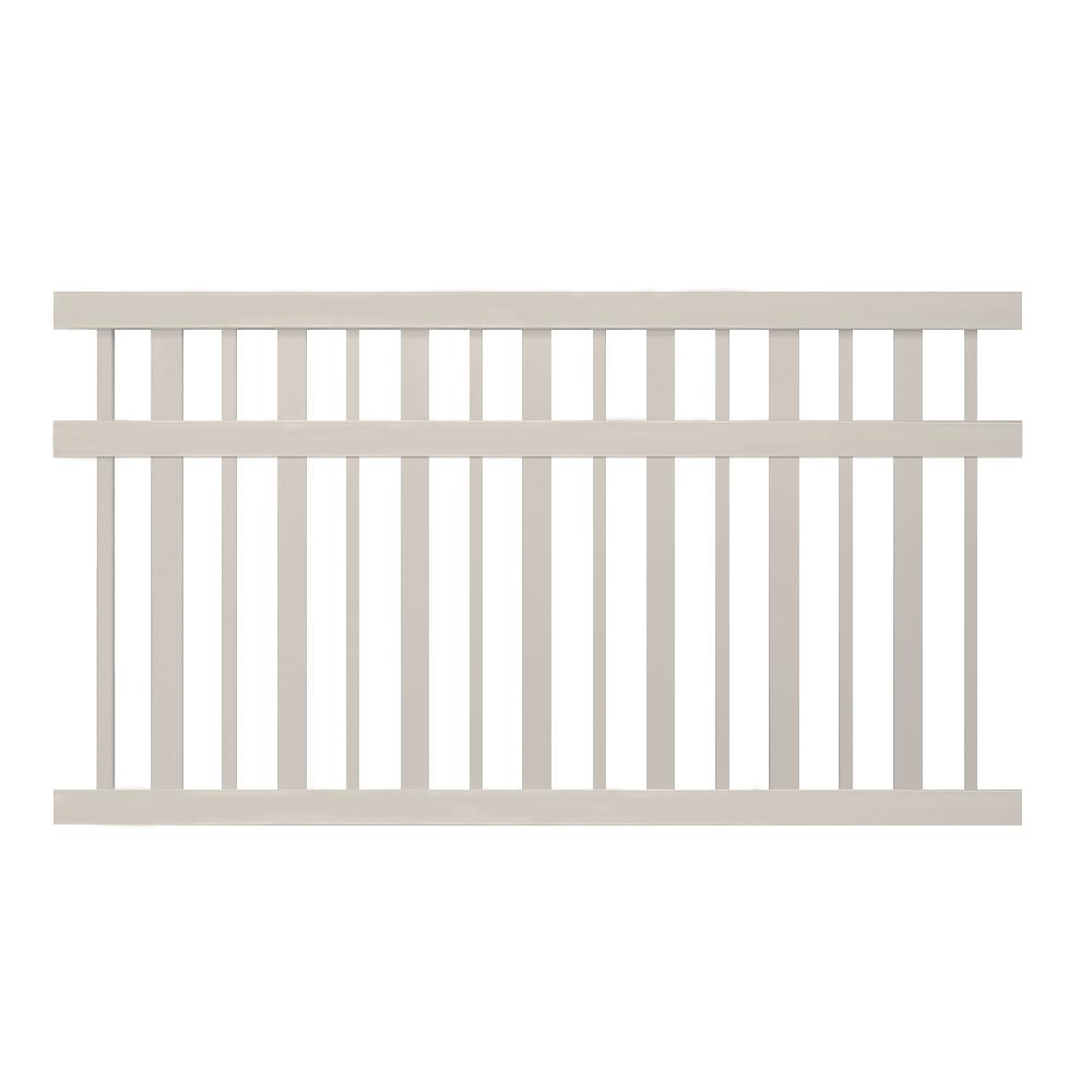Atlantis 5 ft. x 6 ft. Tan Vinyl Pool Fence Panel