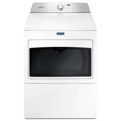 7.4 cu. ft. 240-Volt White Electric Vented Dryer with Intellidry Sensor