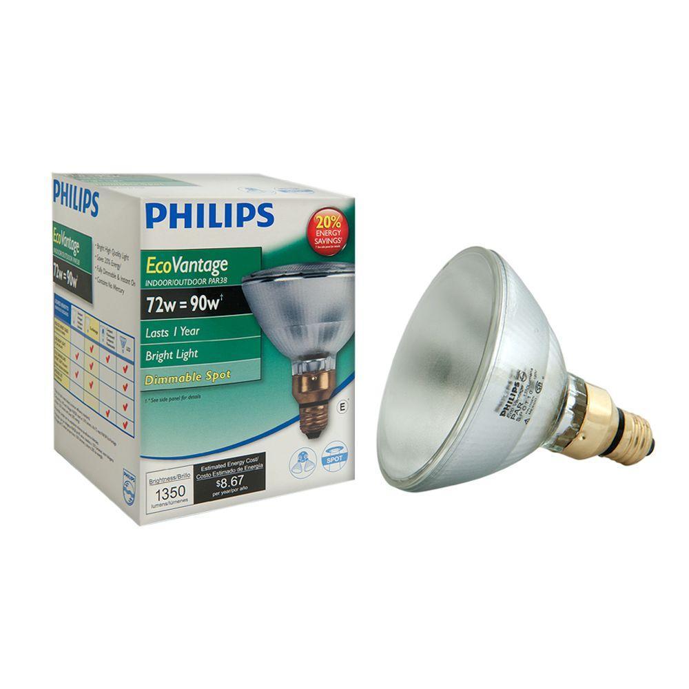 90 Watt Equivalent Halogen PAR38 Indoor/Outdoor Spotlight Bulb