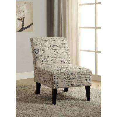Eucalyptus Dark Walnut Linen Accent Chair