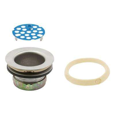 Basket Strainer with Grid 1-7/8 in. to 2-1/4 in. Chrome with Putty