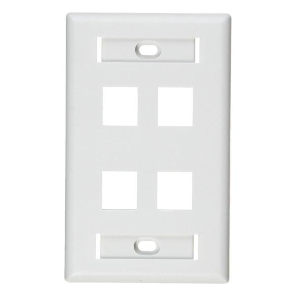 White 1-Gang Audio/Video Wall Plate (1-Pack)