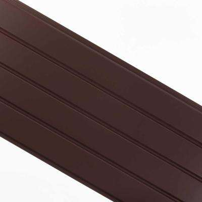 16 in. x 12 ft. Royal Brown Aluminum Solid Soffit