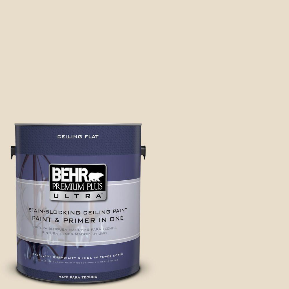BEHR Premium Plus Ultra 1-Gal. No.UL150-10 Ceiling Tinted to Aged Parchment Interior Paint