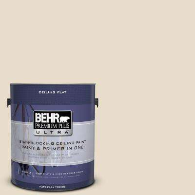 1 gal. No.UL150-10 Ceiling Tinted to Aged Parchment Flat Interior Paint and Primer in One