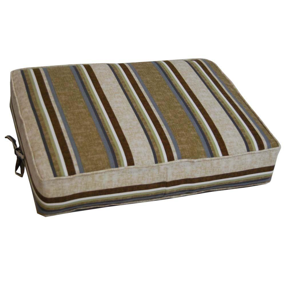 null Cabot Stripe Tobacco Outdoor Ottoman Cushion-DISCONTINUED