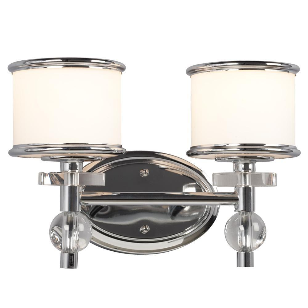 Negron 2-Light Chrome Incandescent Bath Vanity Light