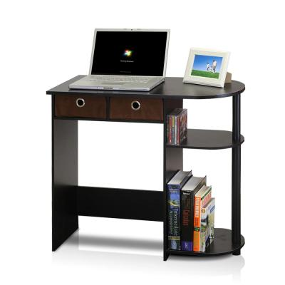 Go Green Espresso Computer Desk with Bin Drawer