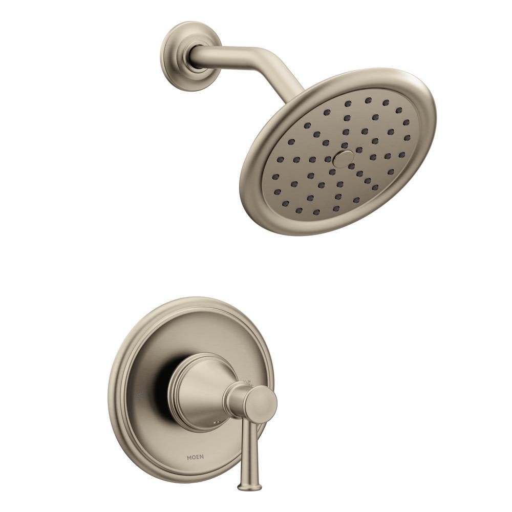 MOEN Belfield 1-Handle Posi-Temp Shower Only Trim Kit in Brushed ...