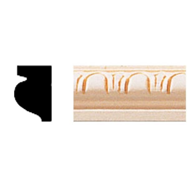 1/2 in. x 3/4 in. x 8 ft. Hardwood Cove Moulding